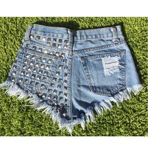 5df6696619 ✨RUNWAYDREAMZ✨ Dangers Stone Studded Babe Shorts